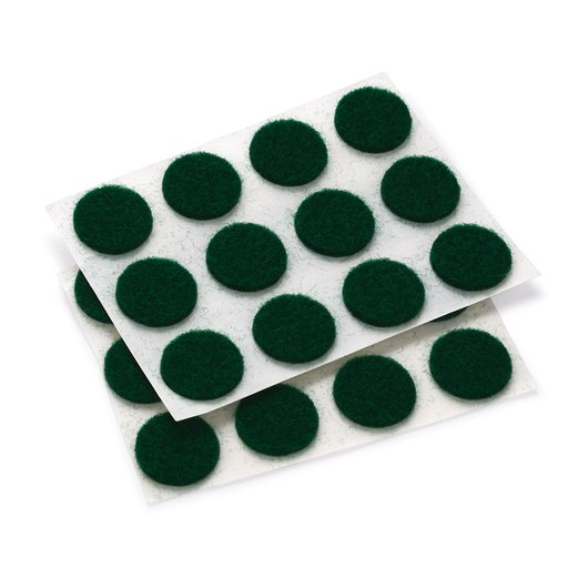 "View a Larger Image of Felt Dot, Self-Adhesive, Green 1/2"" dia. 40-piece"