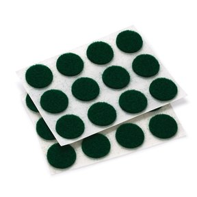 "Felt Dot, Self-Adhesive, Green 1/2"" dia. 40-piece"