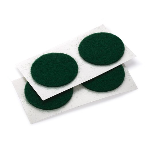 "View a Larger Image of Felt Dot, Self-Adhesive, Green 1"" dia. 18-piece"