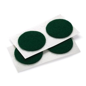 "Felt Dot, Self-Adhesive, Green 1"" dia. 18-piece"