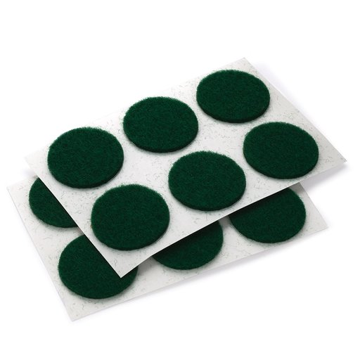 "View a Larger Image of Felt Dot, Self-Adhesive, Green 3/4"" dia. 24-piece"