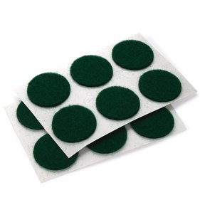 "Felt Dot, Self-Adhesive, Green 3/4"" dia. 24-piece"