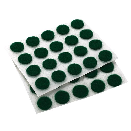 "View a Larger Image of Felt Dot, Self-Adhesive, Green 3/8"" dia. 40-piece"