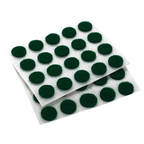 "Felt Dot, Self-Adhesive, Green 3/8"" dia. 40-piece"