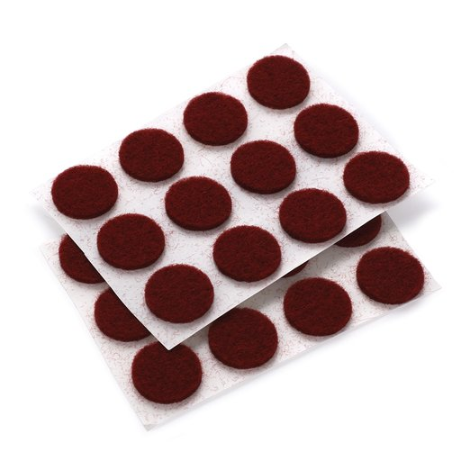 "View a Larger Image of Felt Dot, Self-Adhesive, Maroon 1/2"" dia. 40-piece"
