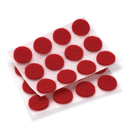 "View a Larger Image of Felt Dot, Self-Adhesive, Red 1/2"" dia. 40-piece"
