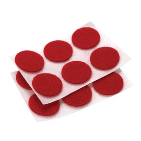 "Felt Dot, Self-Adhesive, Red 3/4"" dia. 24-piece"