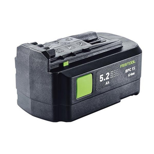 View a Larger Image of Festool 15 V, 5.2 Ah Li-Ion Battery