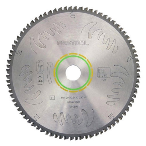 """View a Larger Image of Festool Circular Saw Blade 10"""" x 80 Tooth Fine Tooth ATB"""