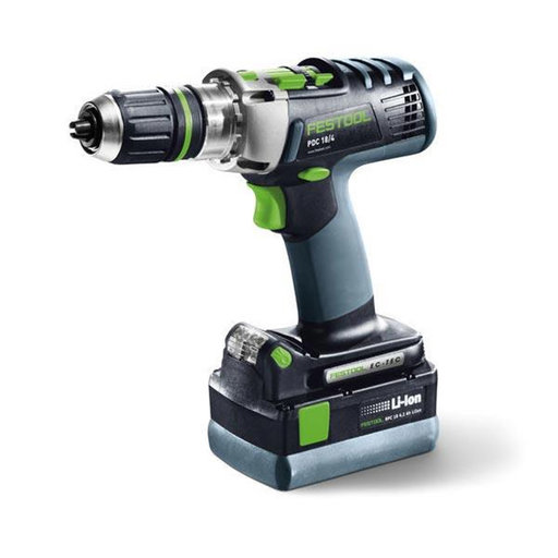View a Larger Image of PDC PLUS 18/4 QuaDrive Cordless Drill