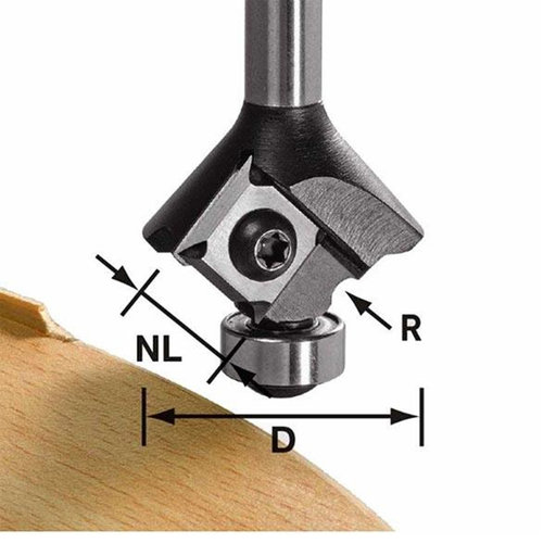 View a Larger Image of Radius Router Bit 2 mm