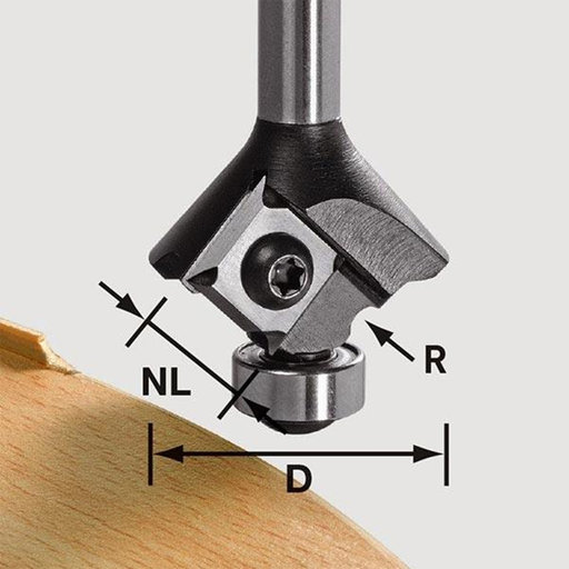 View a Larger Image of Festool Radius Router Bit, 3 mm