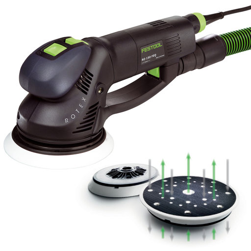 View a Larger Image of Festool Rotex Dual Mode Sander with New Multi-Jetstream Design with T-Loc
