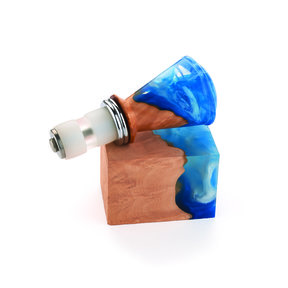 "Fiji 1-1/2"" x 1-1/2"" x 2"" Bottle Stopper Blank, Blue Ice"
