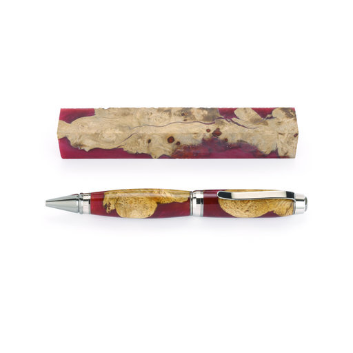 """View a Larger Image of Fiji 3/4"""" x 3/4"""" x 5-1/4"""" Burgundy Turning Stock"""