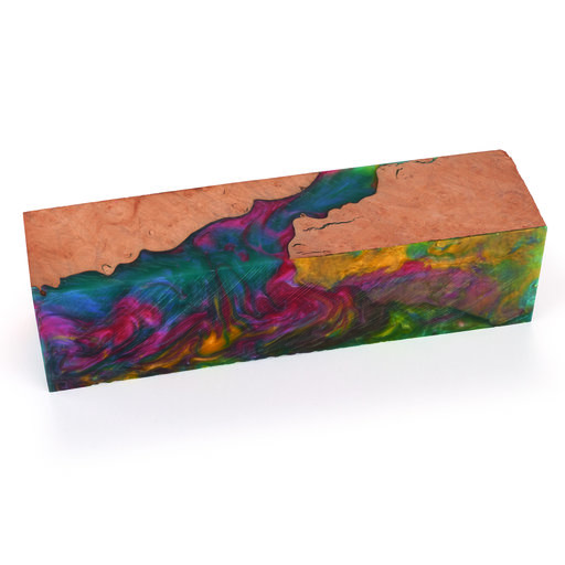 "View a Larger Image of Fiji Rainbow Handle Blank 1-1/2"" x 1-1/2"" x 6"""