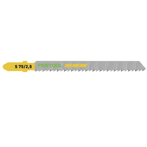View a Larger Image of Fine Cut Wood Jigsaw Blade, 75mm L, 2.5 pitch, 25 pack