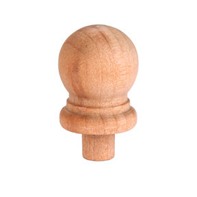 "Finial, Birch, 15/16"" T, Max Dia. 9/16"", 1/4"" Tenon 1-piece"