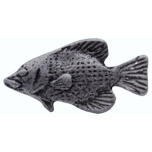 View a Larger Image of Fish Knob, Pewter Oxide