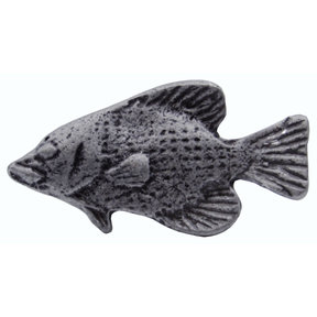 Fish Knob, Pewter Oxide
