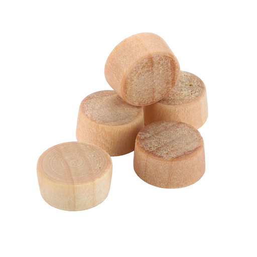 "View a Larger Image of Flat Head Screw Hole Plugs 3/8"" Birch 100-piece"