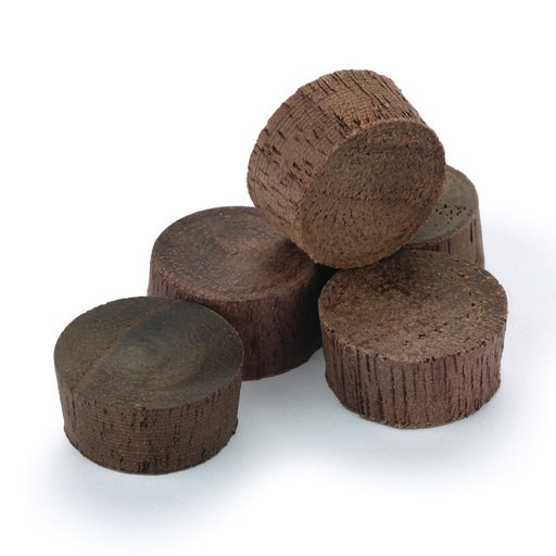 "View a Larger Image of Flat Head Screw Hole Plugs 3/8"" Walnut 15-piece"
