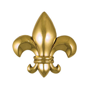 Fleur de Lys Door Knocker - Brass