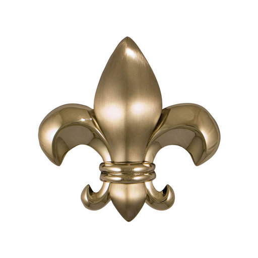 View a Larger Image of Fleur de Lys Door Knocker - Nickel Silver