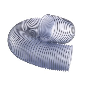 "6"" x 5-feet Clear Dust Collection Hose"