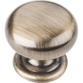 "Florence Knob, 1-1/4"" Dia.,  Brushed Antique Brass"