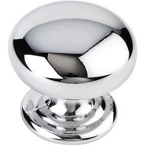 "Florence Knob, 1-1/4"" Dia.,  Polished Chrome"