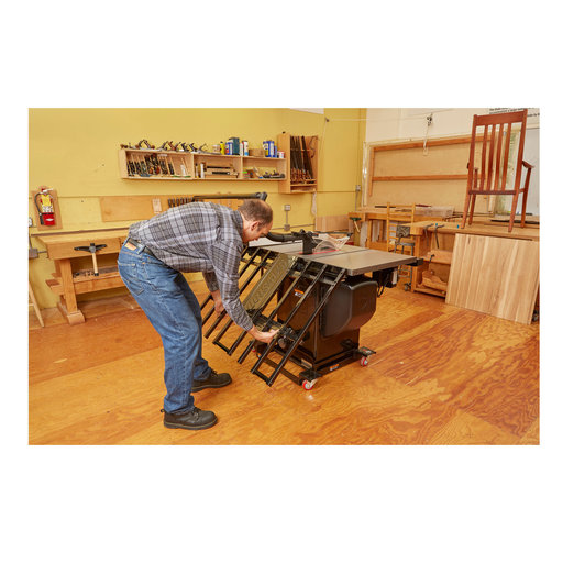 View a Larger Image of Folding Outfeed Table