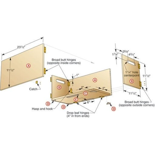 View a Larger Image of Folding Shop Box - Downloadable Plan
