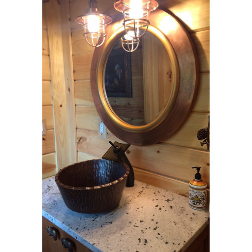 View a Larger Image of Forest Vessel Hammered Copper Sink
