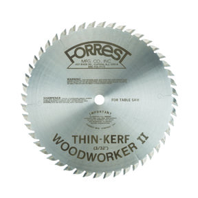 "Woodworker II Saw Blade 10"" x 48 Tooth Thin Kerf"