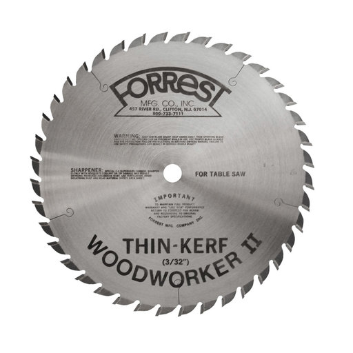 "View a Larger Image of WW08407100 Woodworker II Saw Blade, 8"" x 40T, .100 Kerf x 5/8"" Bore, ATB"
