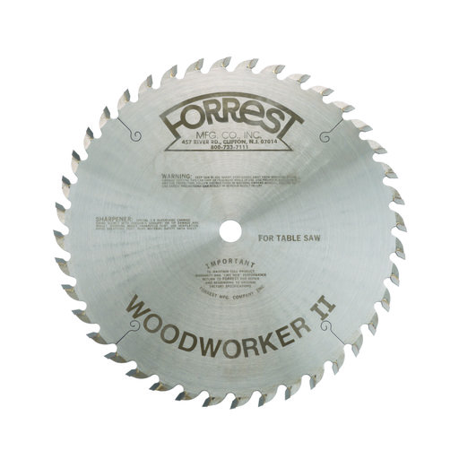"""View a Larger Image of WW10401125 Woodworker II #1 Grind Saw Blade 10"""" x #1 x 40 Tooth"""