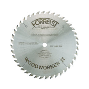 "WW10401125 Woodworker II #1 Grind Saw Blade 10"" x #1 x 40 Tooth"