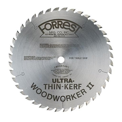 "View a Larger Image of WW10407080 Woodworker II Ultra Thin Kerf (.080"") 10"" X 40Tooth, 5/8"" arbor"
