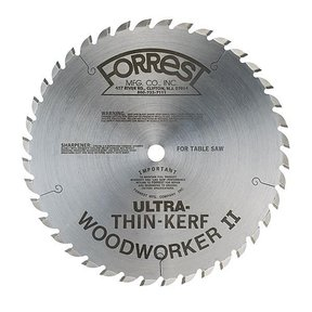 "WW10407080 Woodworker II Ultra Thin Kerf (.080"") 10"" X 40Tooth, 5/8"" arbor"