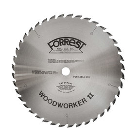 "WW14407145 Woodworker II Saw Blade, 14""x 40T, .145"" Kerf x 1"" Bore, ATB"