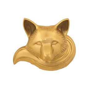 Fox Door Knocker - Brass