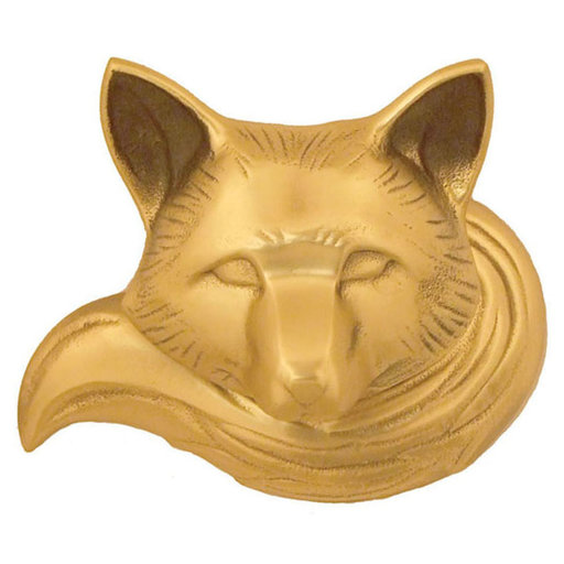 View a Larger Image of Fox Door Knocker - Brass