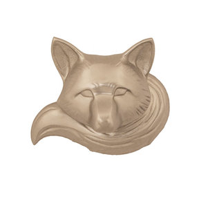 Fox Door Knocker - Nickel Silver