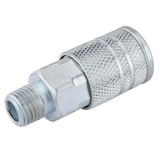 View a Larger Image of 1/4-Inch Industrial Air Coupler With Male 1/4-Inch NPT