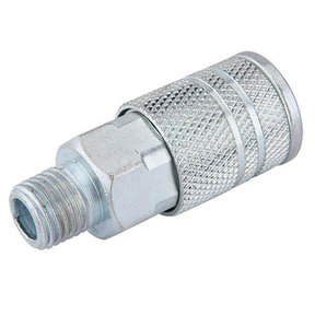 1/4-Inch Industrial Air Coupler With Male 1/4-Inch NPT