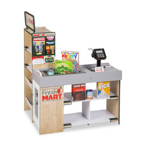 Freestanding Wooden Fresh Mart Grocery Store