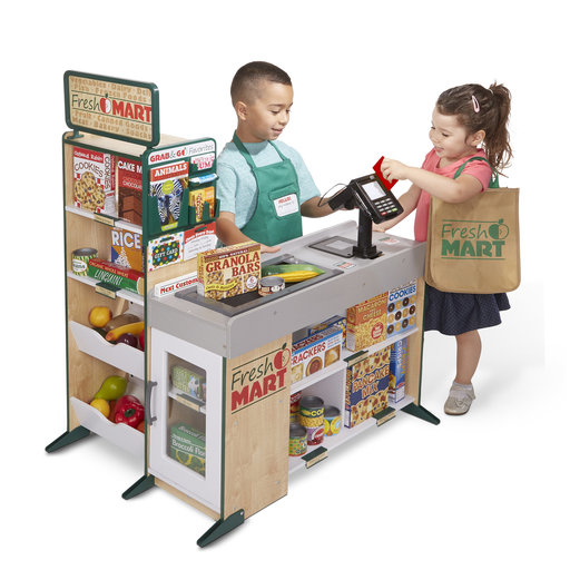 View a Larger Image of Freestanding Wooden Fresh Mart Grocery Store