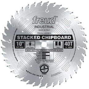 "10"" Full Kerf Heavy Duty Stacked Chipboard Blade"