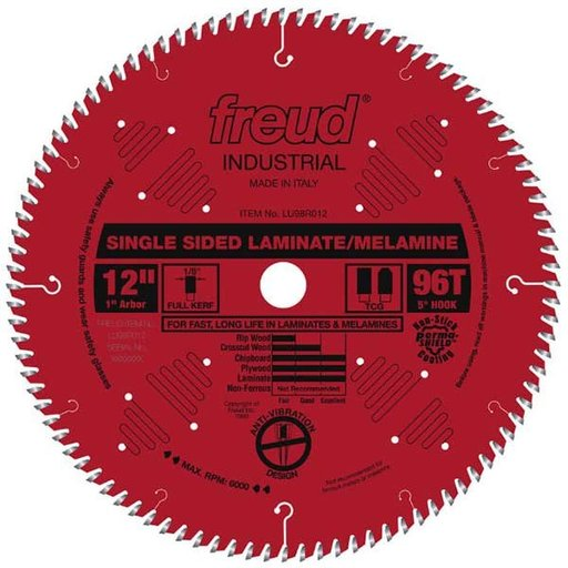 """View a Larger Image of 12"""" Full Kerf Single Sided Laminate Melamine Blade"""